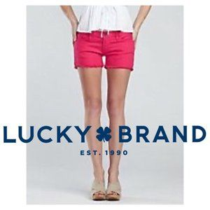 LUCKY BRAND Red Denim Shorts